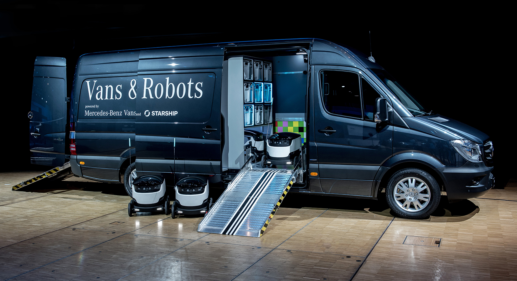 Mercedes benz vans e i robot per le consegne a domicilio for Mercedes benz work vans