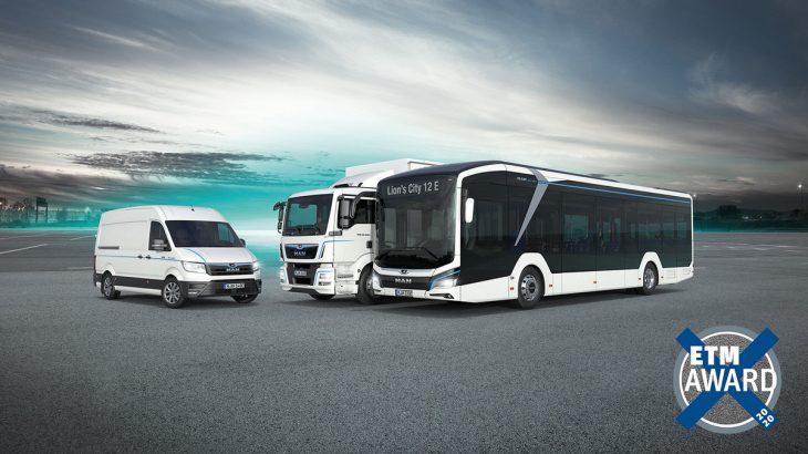 MAN- miglior camion, miglior furgone e miglior autobus