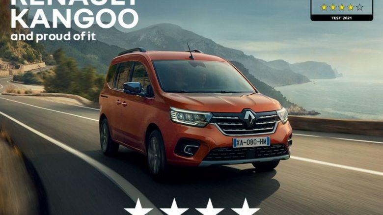 Il nuovo Renault Kangoo si aggiudica 4 stelle Euro NCAP