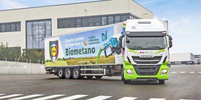 Iveco, consegnati a Lidl 5 camion a biometano