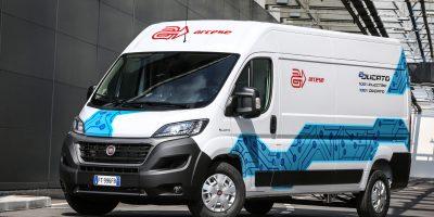 La E-Ducato di Fiat Professional all'Arcese per una logistica a emissioni zero