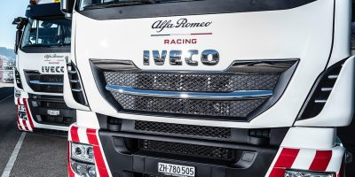 Camion e F1: Iveco Official Truck Partner di Alfa Romeo Racing