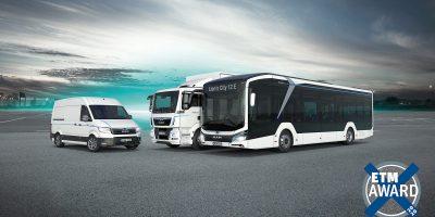 Miglior camion, miglior furgone e miglior autobus: MAN ha vinto in 10 categorie