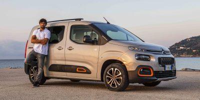 Citroën Berlingo, la multispazio del campione di Windsurf