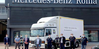 CORONAVIRUS: Mercedes-Benz Truck Italia dona un truck Atego a Protezione Civile del Lazio