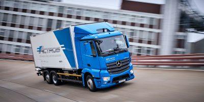 Mercedes eActros, al via la sperimentazione del camion elettrico