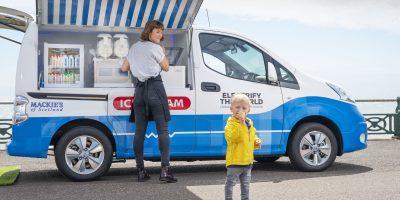 Nissan: un furgone elettrico per i gelati
