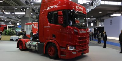 Scania a Transpotec Logitec 2019