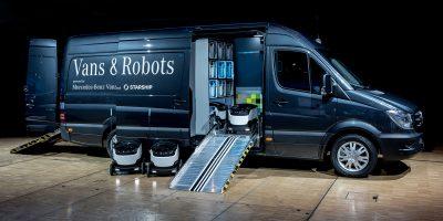 Mercedes-Benz Vans e i robot per le consegne a domicilio