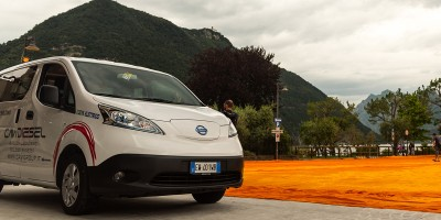 "Due Nissan e-NV200 per ""The Floating Piers"" a Sulzano"