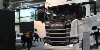 Lo stand Scania al Transpotec 2017
