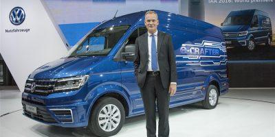 Volkswagen e-Crafter, il van elettrico allo IAA di Hannover 2016